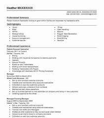 Patient Account Specialist Resume Sample | Livecareer