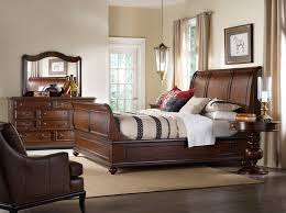 bedroom furniture set with drawer dresser with mirror and leather cover armchair from hooker furniture