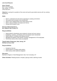 resume example example resume line cook line cook description for