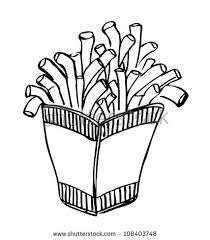 french fries clipart black and white. Unique Clipart Intended French Fries Clipart Black And White I