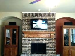how to hide tv wires over brick fireplace how to mount a above a fireplace mount