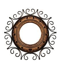 mirror frame. Perfect Mirror Saaga Brown U0026 Black Mango Wood Iron Round Mirror Frame In