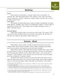 written case study panera bread template docx   Panera Bread Case