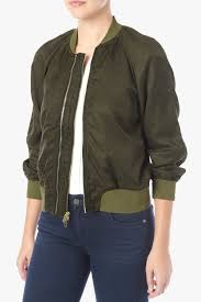 7 for all mankind crop double zip er jacket in olive night