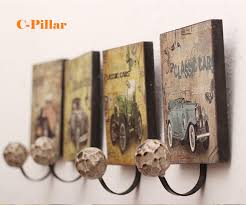 Antique Wall Coat Rack Hot Vintage Wall Metal Coat Decorative Hooks Classic Rustic Single 80