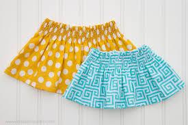 shirred skirt diy