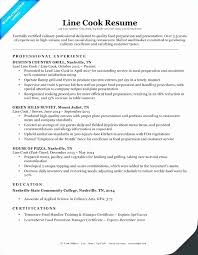 Cook Sample Resume Objective Fresh Prep Cook And Line Cook Resume