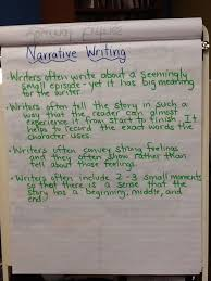 Narrative Writing Anchor Chart Inspired By The Work Of Lucy
