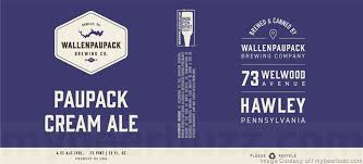 Image result for wallenpaupack paupack cream ale