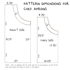 Chef Apron Pattern