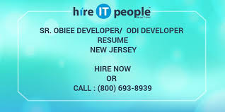 Obiee Developer Sr Obiee Developer Odi Developer Resume New Jersey Hire