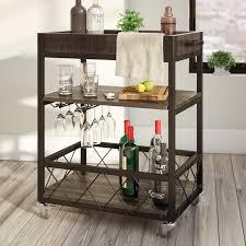 Liquor Cart Mercury Row Zona Bar Cart Reviews Wayfair