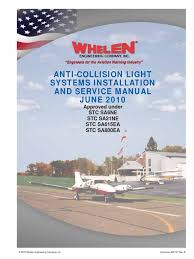 anti collision light systems installation and service manual Whelen Aircraft Strobe Light Wiring Diagram anti collision light systems installation and service manual docshare tips