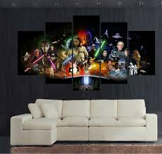 canvas print painting 5 panel large hd printed art star wars movie modern home decor wall on star wars 5 panel canvas wall art with canvas print painting 5 panel large hd printed art star wars movie