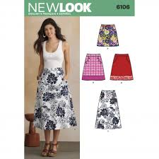 New Look Patterns Magnificent New Look 48 Women's Skirt Sewing Pattern