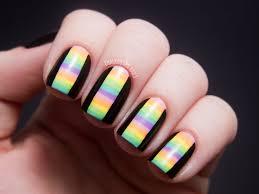 31DC2012: Day 12, Stripes | Chalkboard Nails | Nail Art Blog