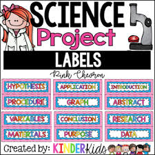 science fair headings printable science fair project labels pink chevron with editable title labels