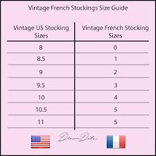 The Vintage Stocking Sizing Guide Stocking Sizes Explained