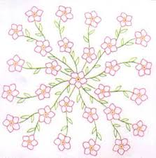 82 best Embroidery quilt blocks I have images on Pinterest | Quilt ... & Stamped Quilt Squares | Floral Spray 18 inch Stamped Embroidery Quilt  Squares by Jack Dempsey . Adamdwight.com