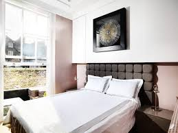 One Bedroom Flat Interior Design White Bed Cover Brown Headboard One Bedroom Flat London White