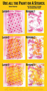 Stenciling Spray Paint Using All The Spray Paint On A Stencil For Pattern Play