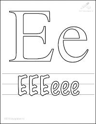 1001 Kleurplaten Tekens Letters Kleurplaat Letter E