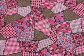 pink patchwork print vintage cotton quilting fabric, cheater quilt ... & pink patchwork print vintage cotton quilting fabric, cheater quilt print Adamdwight.com
