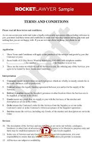 supply of goods and services agreement template terms and conditions for the supply of services to