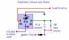 car security and convenience power door locks multiple wire add auto unlock w o alarm relay diagram