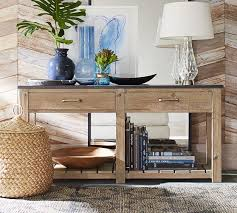 sofa table decor pottery barn. Parker Reclaimed Wood Console Table Pottery Barn Regarding Popular Household Sofa Decor