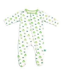 Kyte Baby Pond Green Frog Footie Infant