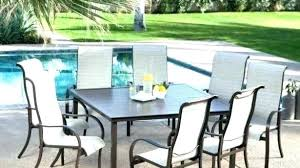 8 person outdoor dining set room various table on square