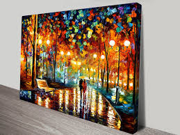 rustle leonid afremov canvas art print