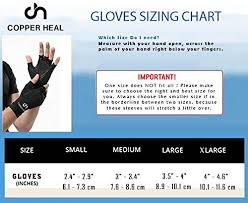 Copper Fit Gloves Size Chart Copper Heal Arthritis Compression Gloves Best Medical Copper Glove Guaranteed To Work For Rheumatoid Arthritis Carpal Tunnel Rsi Osteoarthritis