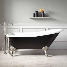 refinish a bathtub yourself inspirational 66 goodwin cast iron clawfoot tub imperial feet black tubsrefinish a