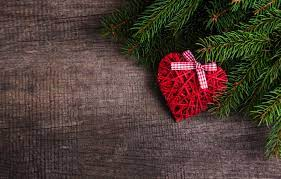 Wallpaper decoration, heart, New Year ...