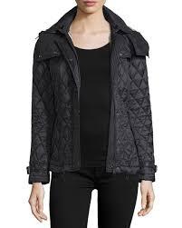 Burberry Finsbridge Hooded Quilted Short Jacket, Black   Neiman Marcus & Finsbridge Hooded Quilted Short Jacket, Black Adamdwight.com