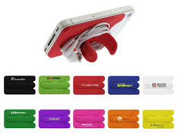 logo personalized kickstand smart phone wallet in bulk for advertising cool promotional giveaway gifts for