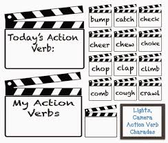 classroom bies lights camera action verbs charades lights camera action verbs charades