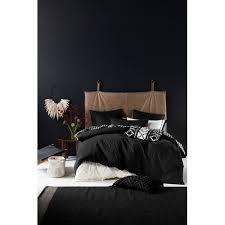 Naya Black Quilt Cover Set   Temple & Webster & Linen House Naya Black Quilt Cover Set Adamdwight.com
