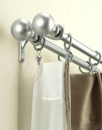 double shower curtain rod double shower curtain rod ideas double curved tension shower curtain rod brushed
