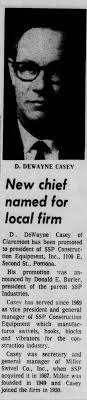Dewayne Casey president of SSP Construction Equipment Inc ...