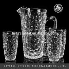 Decorative Water Pitcher Mouth blown high quality coloured glass pitcher jug glass water 73