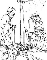 De Herders In De Stal Kleurplaat Historias Biblicas Jesus