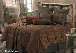 red twin bed sheets zebra comforter western bedding crystal creek decor 2