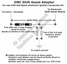 electronic ignition conversion kits for inboard marine engines for Basic Electrical Wiring Diagrams www hot spark com omc shift assist adapter jpg