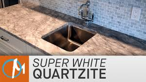 Super White Granite Kitchen Super White Quartzite Kitchen Countertops Marblecom Youtube