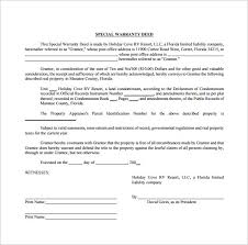 Warranty Deed Form Template