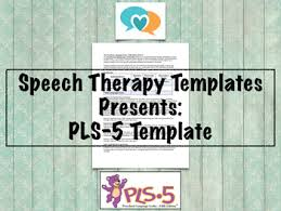 Pls 5 Template Speech Therapy Assessment