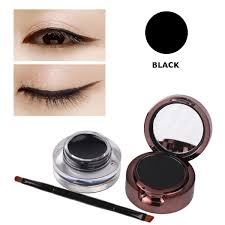 eyebrow powder. 3pcs waterproof eyebrow powder eyeliner gel set with brush mirror black brown eye makeup kit